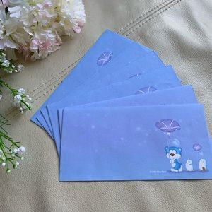 💕5 for $10: morning glory envelopes - stationary